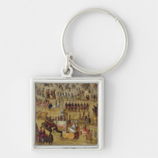 The Place Royale and the Carrousel in 1612 Keychain