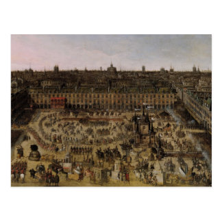 The Place Royale and the Carrousel in 1612 Postcard