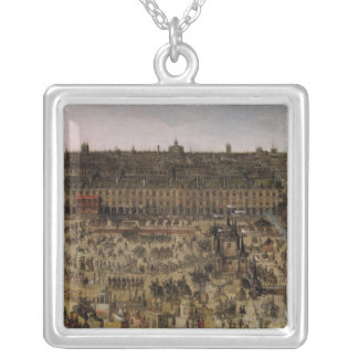 The Place Royale and the Carrousel in 1612 Silver Plated Necklace