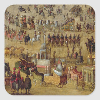 The Place Royale and the Carrousel in 1612 Square Sticker