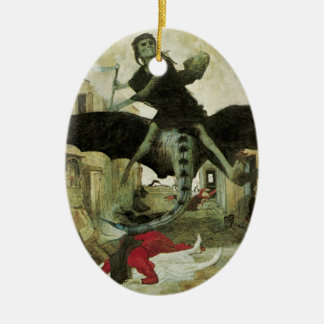 The Plague, Arnold Bocklin, 1898 Ceramic Ornament