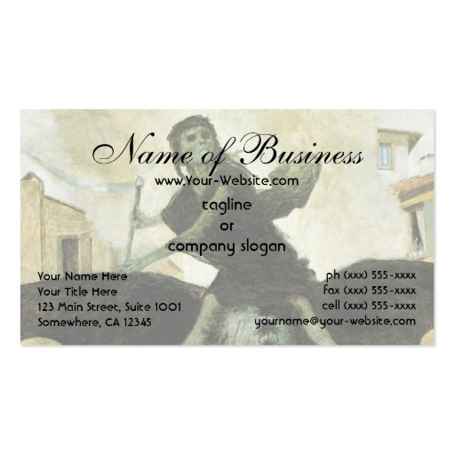 The Plague by Arnold Bocklin Double-Sided Standard Business Cards (Pack Of 100)