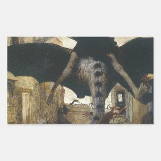 The Plague by Arnold Böcklin Rectangular Sticker