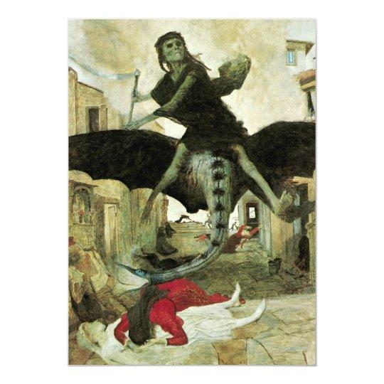 The Plague by Arnold Bocklin, Vintage Halloween Card