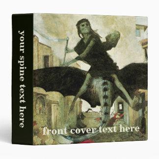 The Plague by Arnold Bocklin, Vintage Symbolism Binder