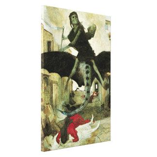 The Plague by Arnold Bocklin, Vintage Symbolism Canvas Print