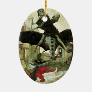 The Plague by Arnold Bocklin, Vintage Symbolism Ceramic Ornament