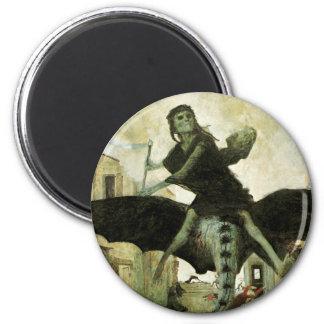 The Plague by Arnold Bocklin, Vintage Symbolism Magnet
