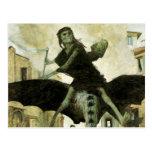 The Plague by Arnold Bocklin, Vintage Symbolism Post Card