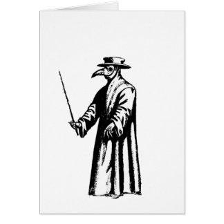 The Plague Doctor. Greeting Cards