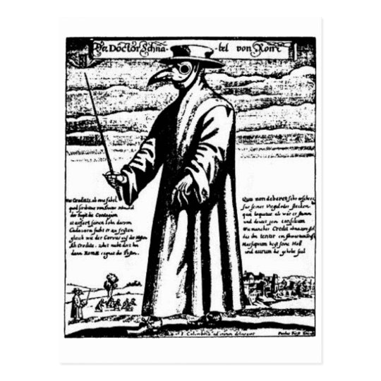 The Plague Doctor. Postcard