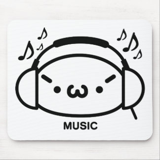 The plain gauze it comes and - is music mouse pad