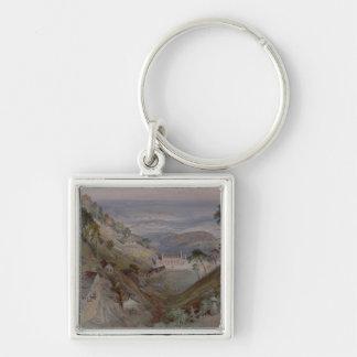 The Plains, Landour Church, Mussoorie, 1884 Key Chain