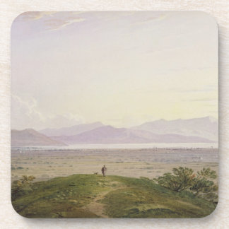The Plains of Marathon, 1834 (graphite & w/c with Drink Coaster
