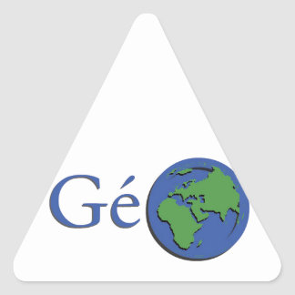 the planet ground - geography triangle sticker