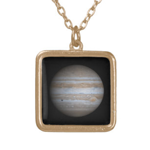 The Planet Jupiter Gold Finish Necklace
