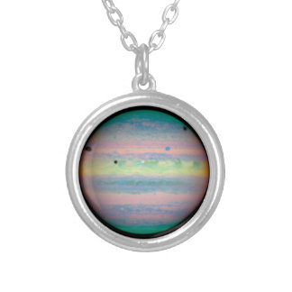 The Planet Jupiter Silver Plated Necklace