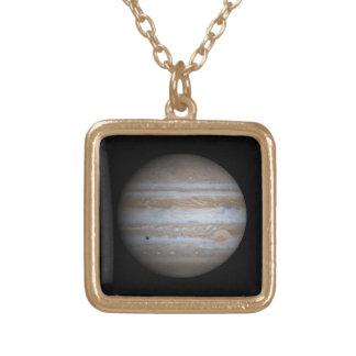 The Planet Jupiter Square Pendant Necklace