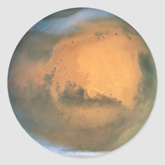 The Planet Mars Classic Round Sticker