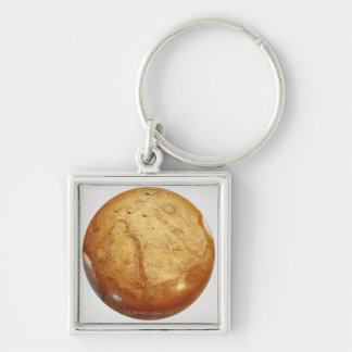 The planet mars, illustration Silver-Colored square keychain