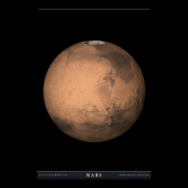 The Planet Mars Poster