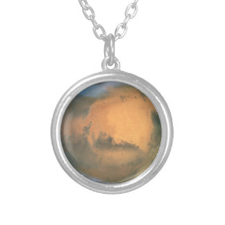The Planet Mars Silver Plated Necklace