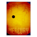 The Planet Mercury Greeting Card