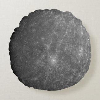 The Planet Mercury Round Pillow