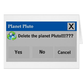The Planet Pluto Card