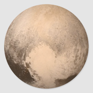 The Planet Pluto Classic Round Sticker