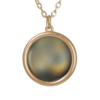 The Planet Pluto Gold Plated Necklace