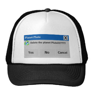 The Planet Pluto Hat
