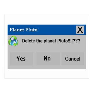 The Planet Pluto Postcard