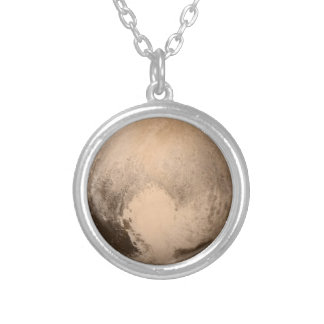 The Planet Pluto Silver Plated Necklace