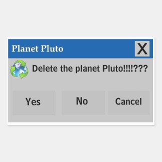 The Planet Pluto Sticker
