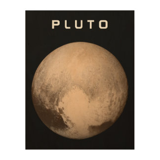 The Planet Pluto Wood Wall Art