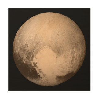 The Planet Pluto Wood Wall Decor