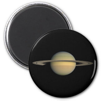 The Planet Saturn during the Equinox 2 Inch Round Magnet
