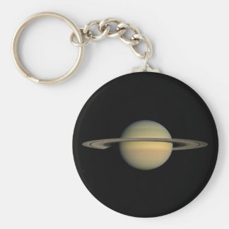 The Planet Saturn during the Equinox Keychain