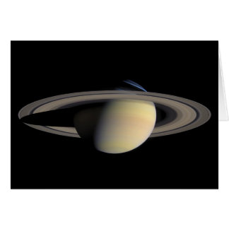 The Planet Saturn from Cassini Orbiter Card