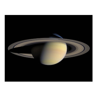 The Planet Saturn from Cassini Orbiter Postcard