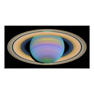 The Planet Saturn In Ultraviolet Poster