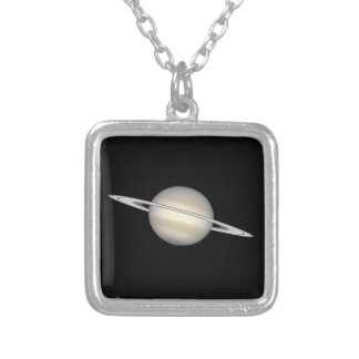 The Planet Saturn Silver Plated Necklace