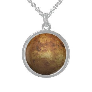 The Planet Venus - 3D Effect Round Pendant Necklace