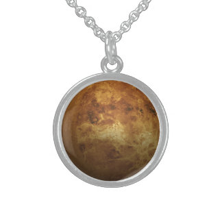 The Planet Venus - 3D Effect Sterling Silver Necklace