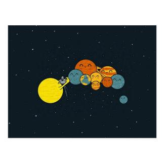 The Planets Family Portrait Postcard