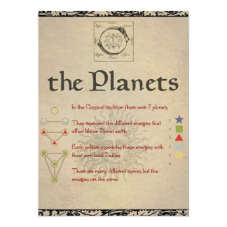 """The Planets """"MERCURY"""" Book of Shadows Page Card"""