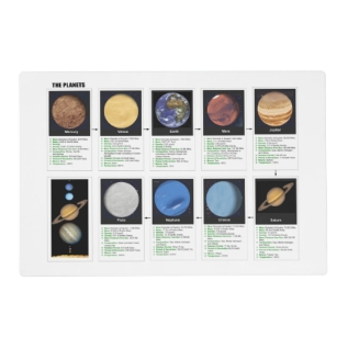 The Planets Placemat at Zazzle
