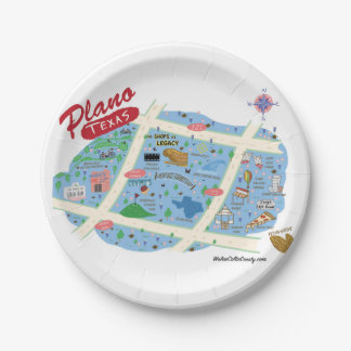 The Plano Texas Party Plates