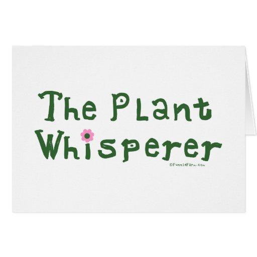 The plant whisperer greeting card | Zazzle